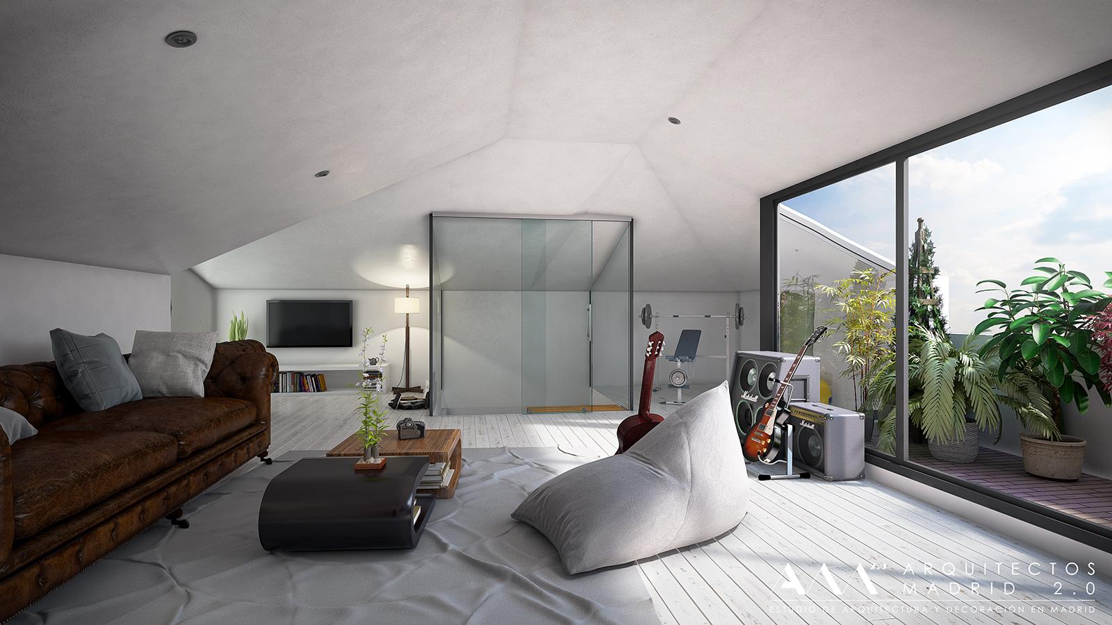 reformas de viviendas por arquitectos madrid 045 - Buhardillas Modernas