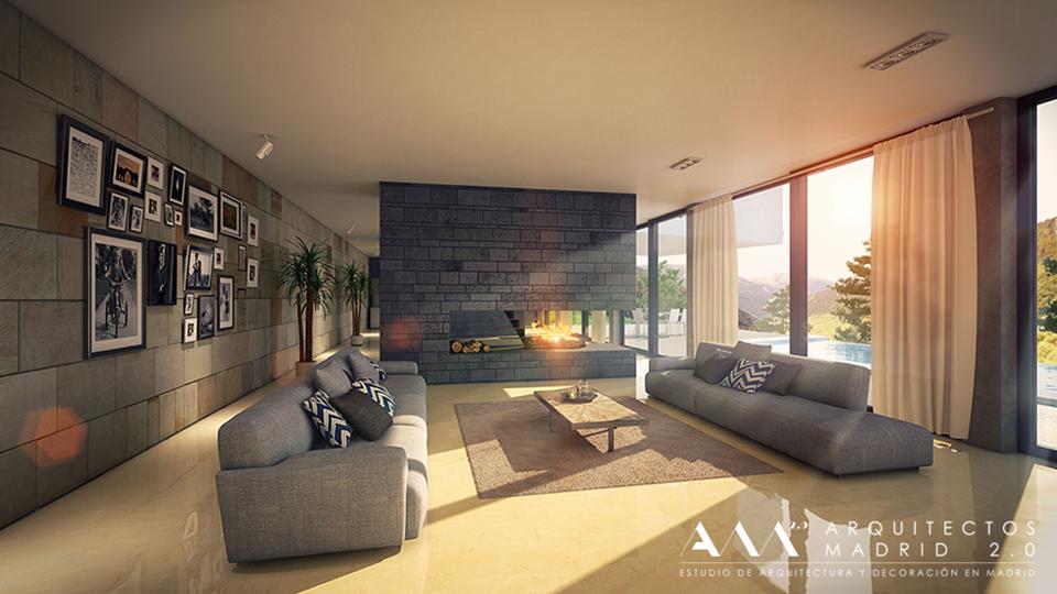 Construcci n viviendas unifamiliares en madrid for Casa de arquitecto moderno
