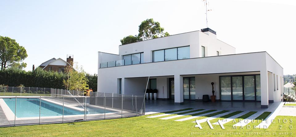 Casa de dise o minimalista en madrid casas modernas - Arquitectos madrid 2 0 ...