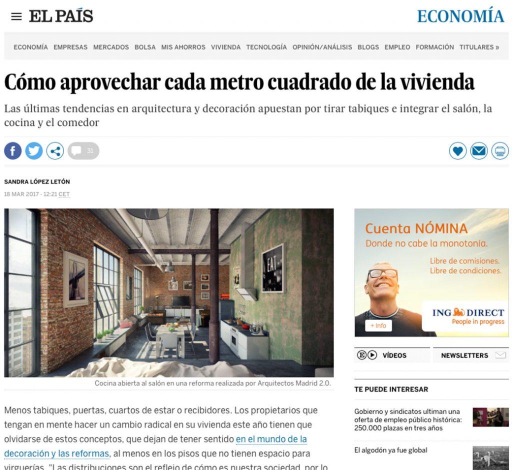 Espacios abiertos reformas viviendas madrid arquitectos madrid el pais
