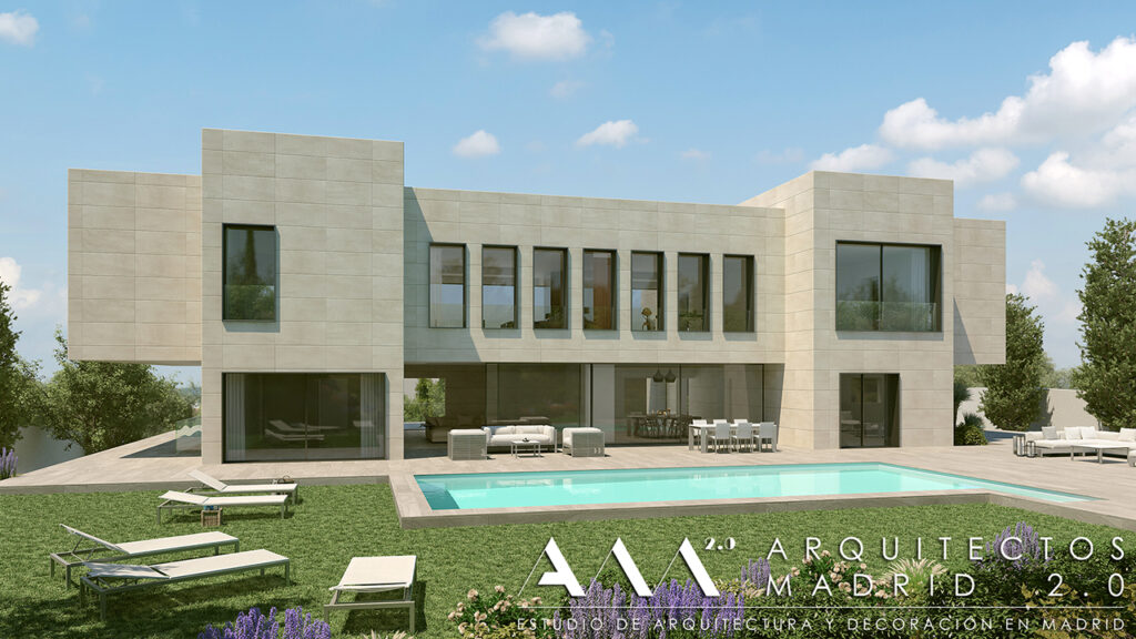 proyecto vivienda unifamiliar de lujo en madrid