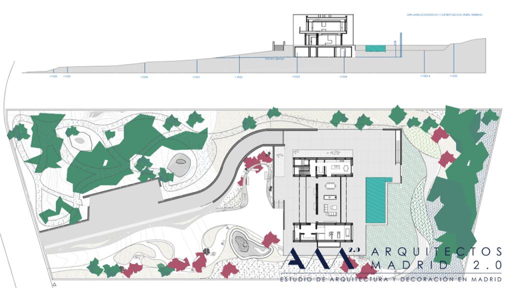 proyecto vivienda unifamiliar en madrid de lujo jardin