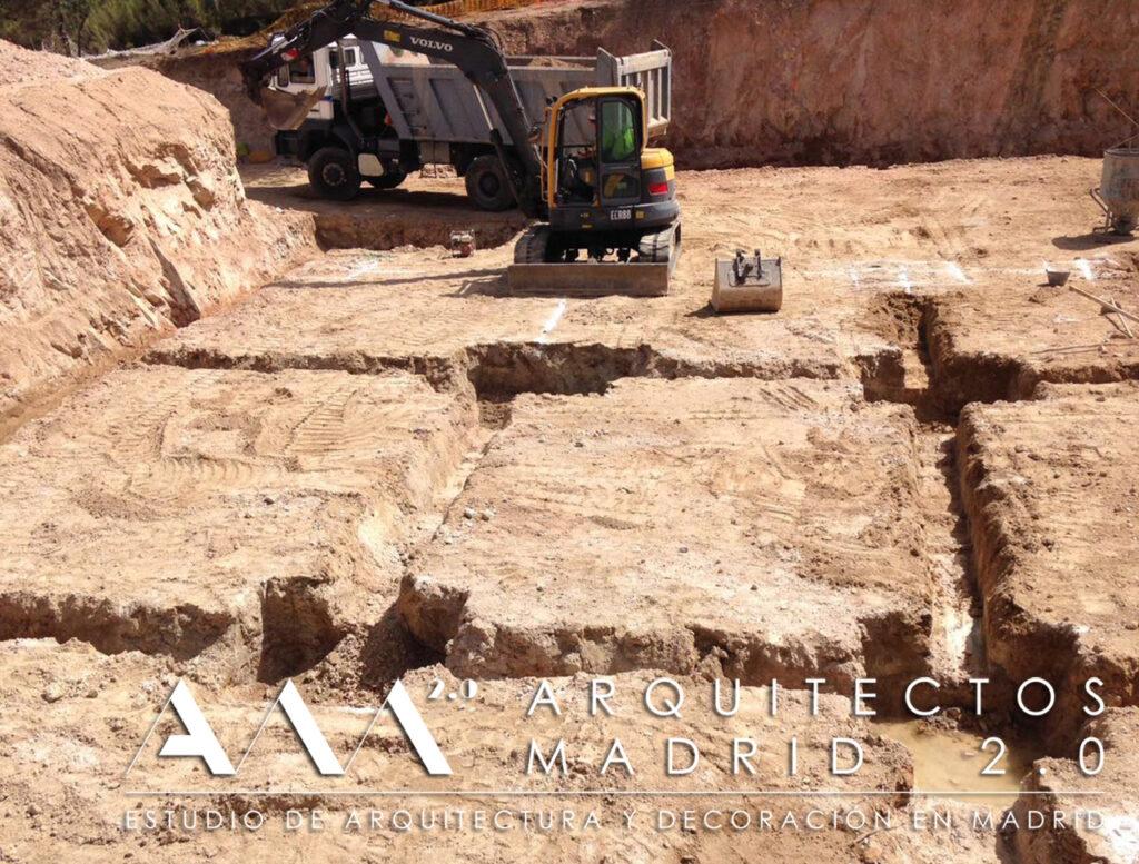construccion vivienda unifamiliar en madrid de lujo obra contruccion cimentacion