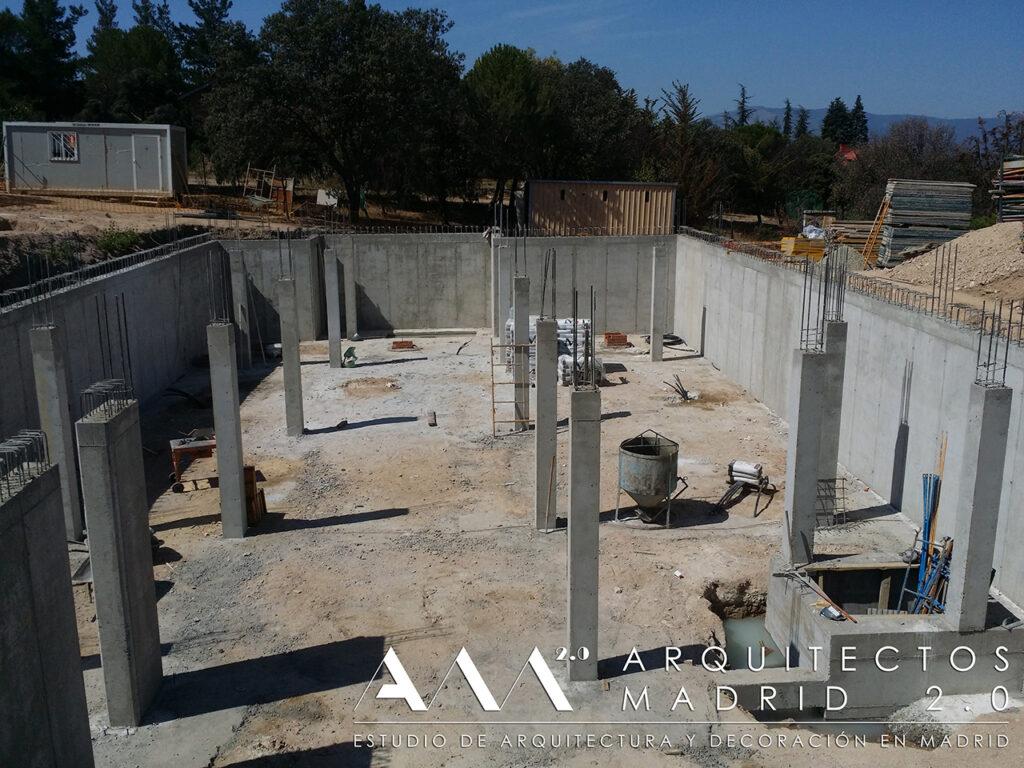 construccion vivienda unifamiliar en madrid de lujo obra contruccion estructura