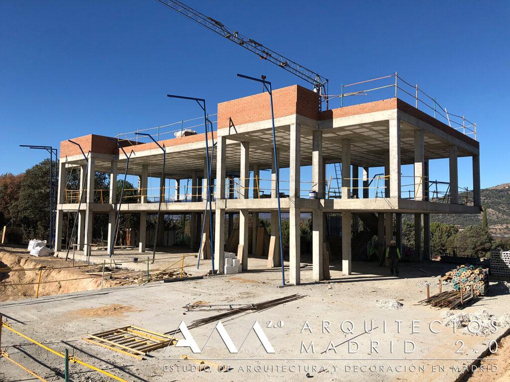 construccion vivienda unifamiliar en madrid de lujo obra contruccion albañileria