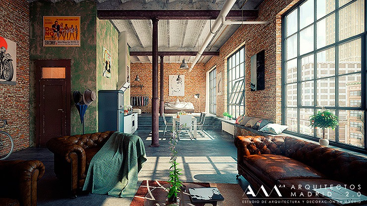 Reforma de loft en madrid decoraci n industrial - Decoradores de interiores en madrid ...