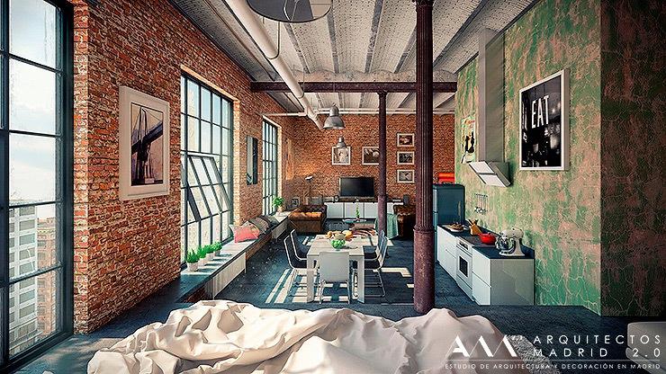 proyecto reforma loft en madrid arquitectos