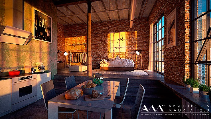 Reforma de loft en madrid decoraci n industrial for Ideas para reformar una vivienda
