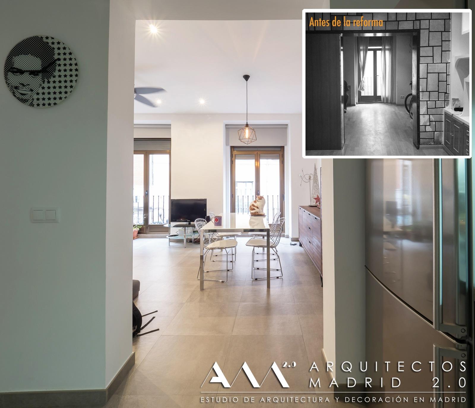 proyectos interiorismo decoracion arquitectos cocina diseno reforma parcial de vivienda