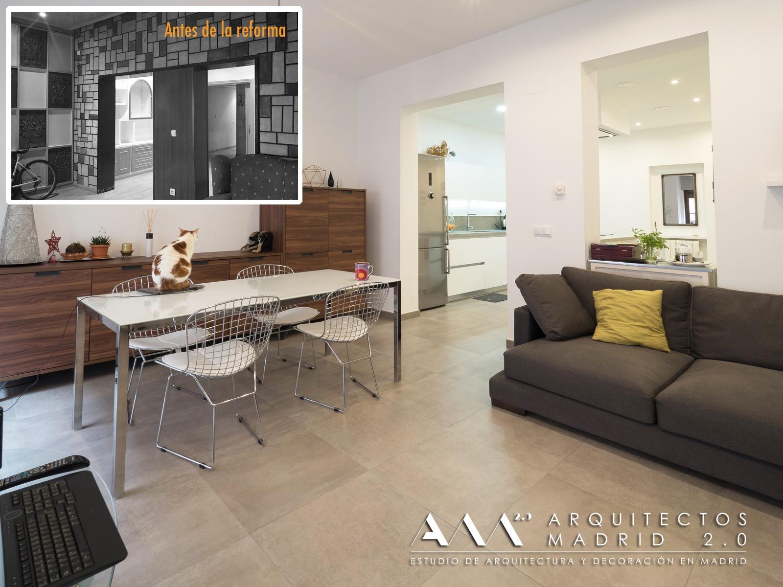 proyectos interiorismo decoracion arquitectos diseno reforma parcial de vivienda