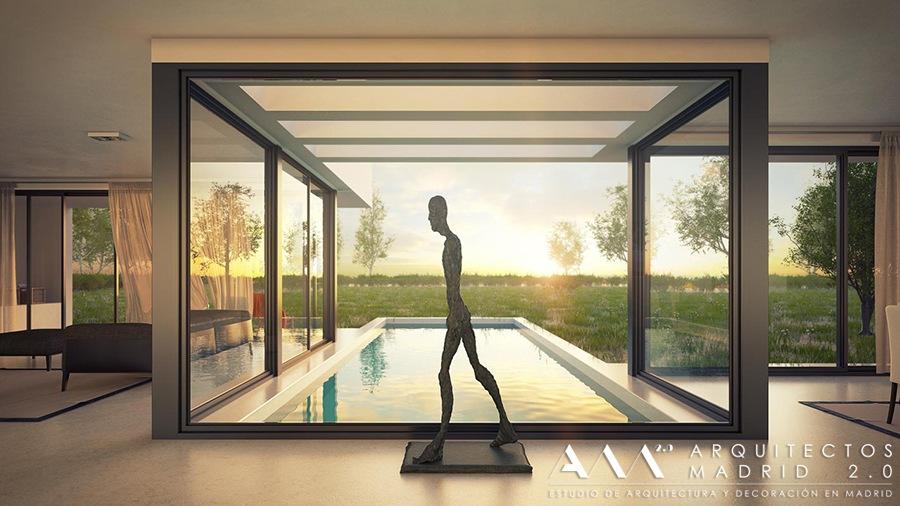 arquitectos madrid , casa moderna en toledo 04 , casas de diseno