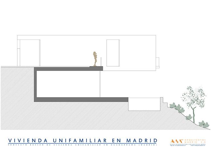 arquitectos madrid proyecto construccion vivienda unifamiliar seccion