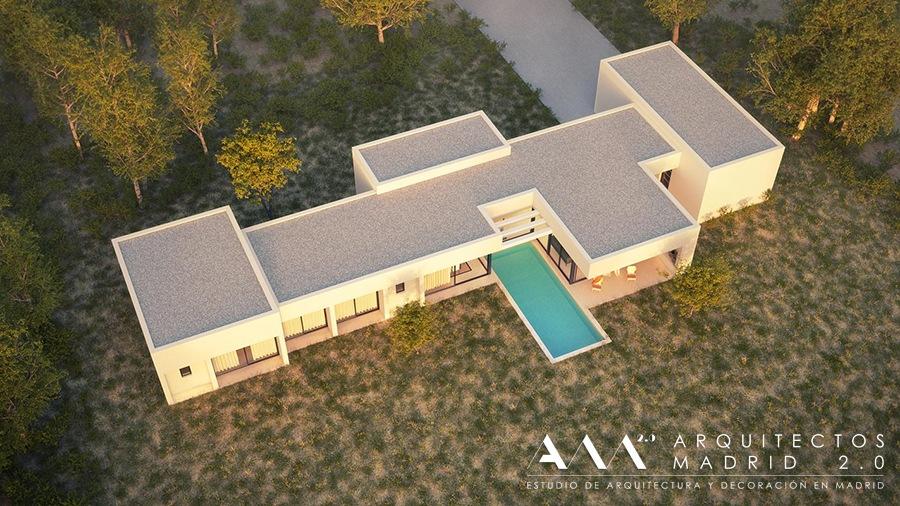 casa moderna diseno economico - proyecto vivienda unifamiliar arquitectos madrid 01