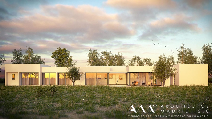 casa moderna diseno economico - proyecto vivienda unifamiliar arquitectos madrid 02