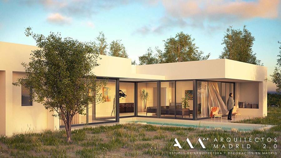 casa moderna diseno economico - proyecto vivienda unifamiliar arquitectos madrid 03