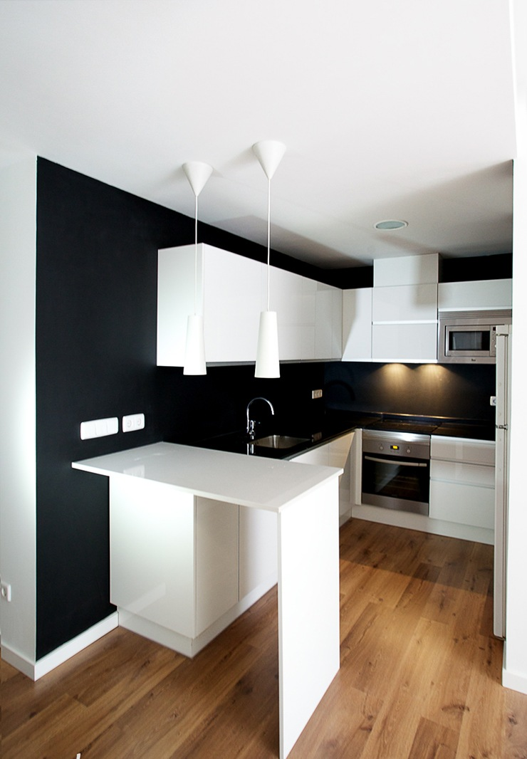 Ideas cocinas peque as cocinas modernas minimalistas - Decoracion de interiores cocinas pequenas ...