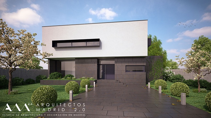 Construcci n de vivienda unifamiliar en pozuelo de alarc n for Modelo de fachadas de viviendas