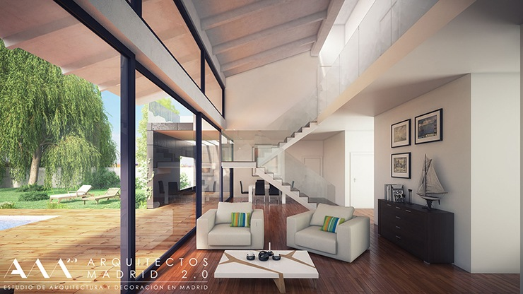 construccion vivienda en pozuelo - proyecto de casa unifamiliar en pozuelo de alarcon - interior decoracion