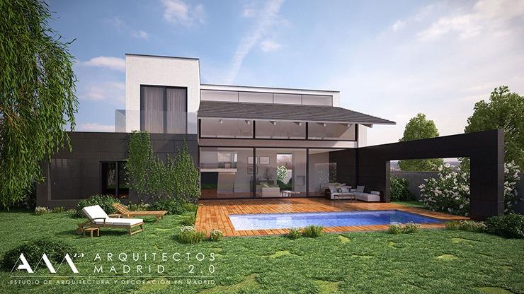 construccion vivienda en pozuelo - proyecto de casa unifamiliar en pozuelo de alarcon - piscina porche