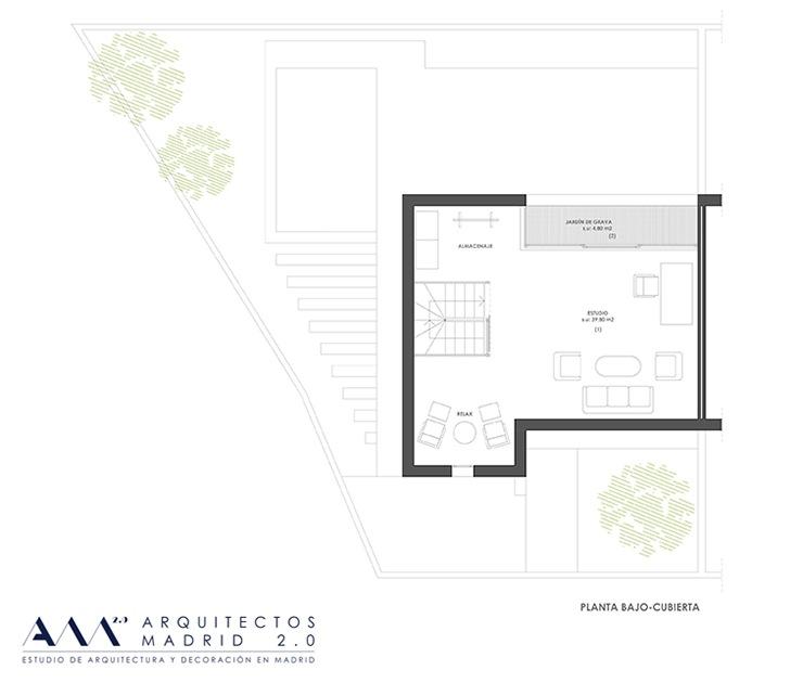 decoracion proyecto reforma vivienda ARQUITECTOS MADRID - plano buhardilla