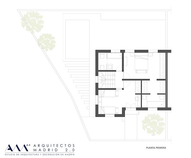 decoracion proyecto reforma vivienda  ARQUITECTOS MADRID - plano planta primera