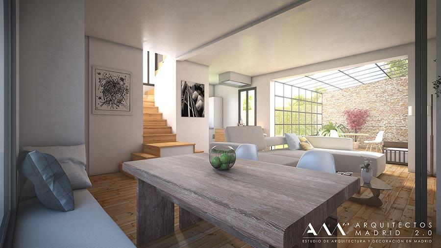 decoracion proyecto reforma vivienda unifamiliar en madrid por ARQUITECTOS MADRID 02