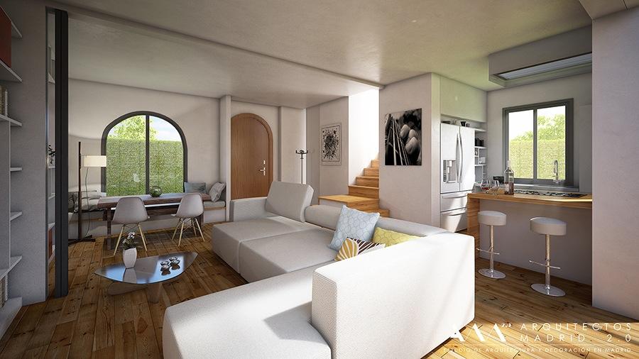 decoracion proyecto reforma vivienda unifamiliar en madrid por ARQUITECTOS MADRID 03