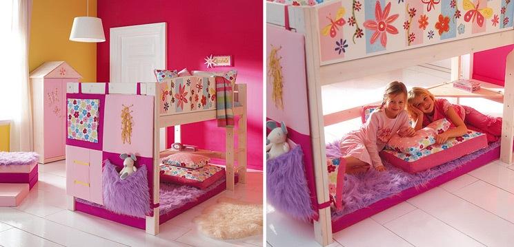 Dormitorios infantiles decoraci n dormitorio juvenil for Cuartos para ninas con literas