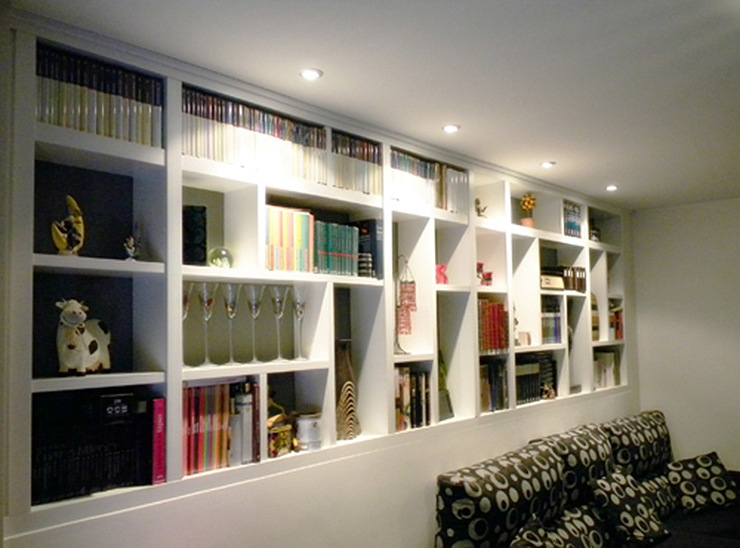 Estanter as y librer as en viviendas ideas decoraci n - Estanterias diseno pared ...