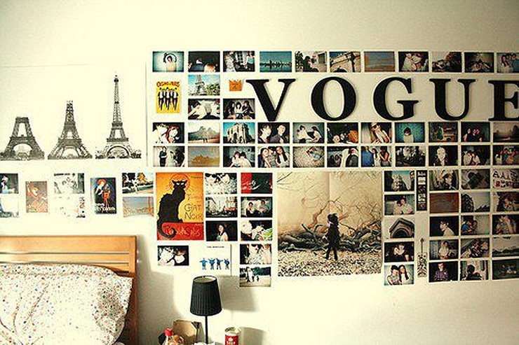 Decoraci n diy decoraci n con collages ideas - Collage de fotos para pared ...