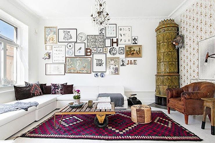 Decoraci n diy decoraci n con collages ideas decoraci n hogar - Fotos en paredes decoracion ...