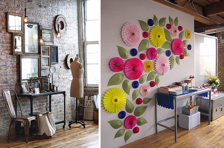 ideas-decoracion-collage-espejos-flores