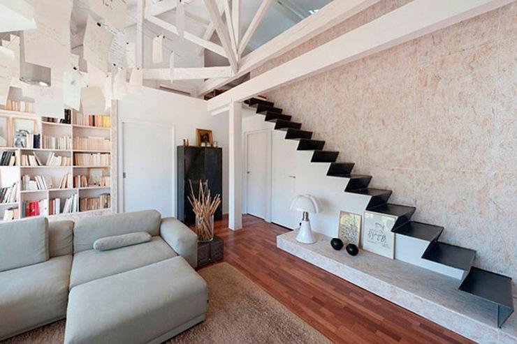 Ideas escaleras interiores de casas escaleras modernas for Salones con escaleras interiores