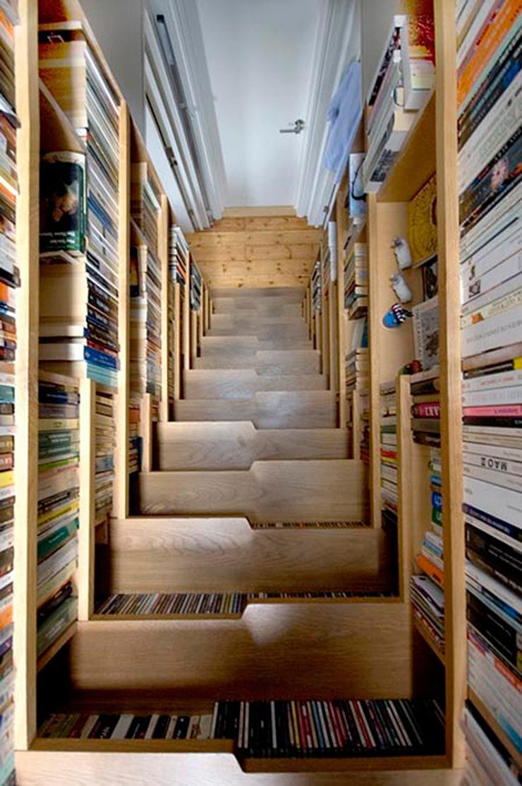 Estanter as y librer as en viviendas ideas decoraci n - Ideas para estanterias ...