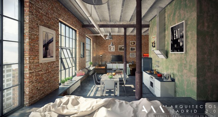 loft-estilo-industrial-madrid-decoracion-interiorismo-arquitectos-madrid