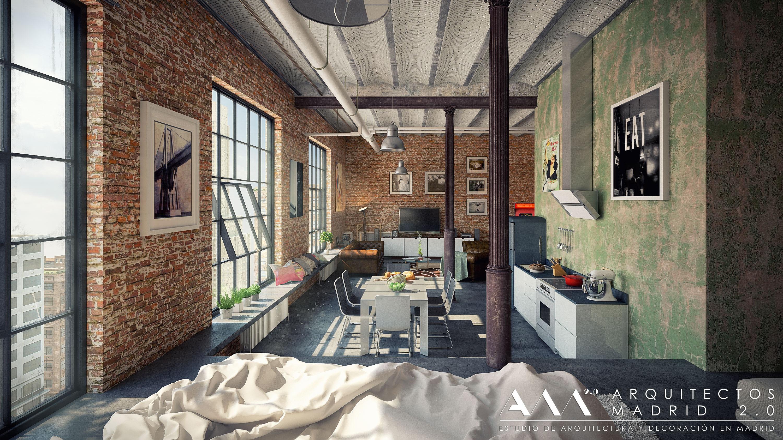 loft-estilo-industrial-madrid-decoracion-interiorismo-arquitectos-madrid