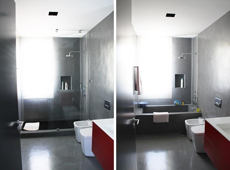 Baño Microcemento Blanco:microcemento-banos-construccion-viviendas-unifamiliares-madrid
