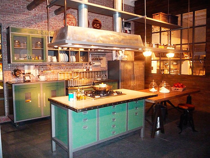 Mobiliario de cocina vintage mobiliario de cocina de - Muebles de cocina estilo retro ...