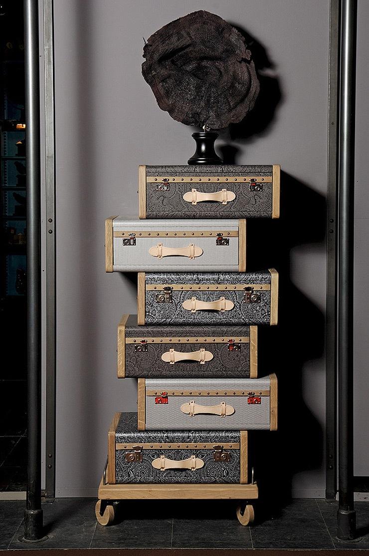 Mobiliario vintage les valises por emmanuelle legavre for Muebles paris