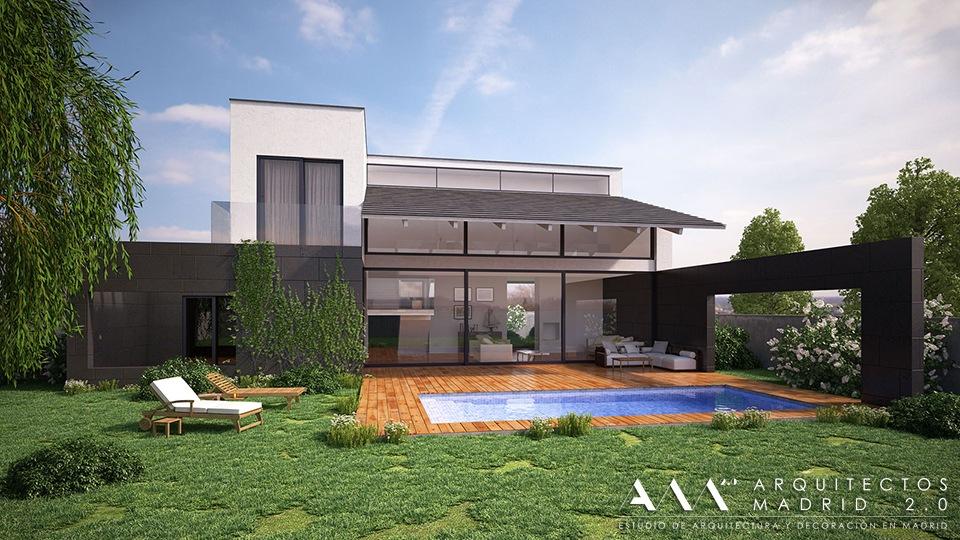 proyecto casa vivienda unifamiliar diseno por arquitectos madrid 007