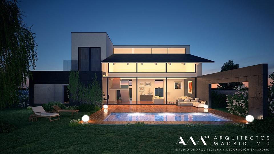 proyecto casa vivienda unifamiliar diseno por arquitectos madrid 017