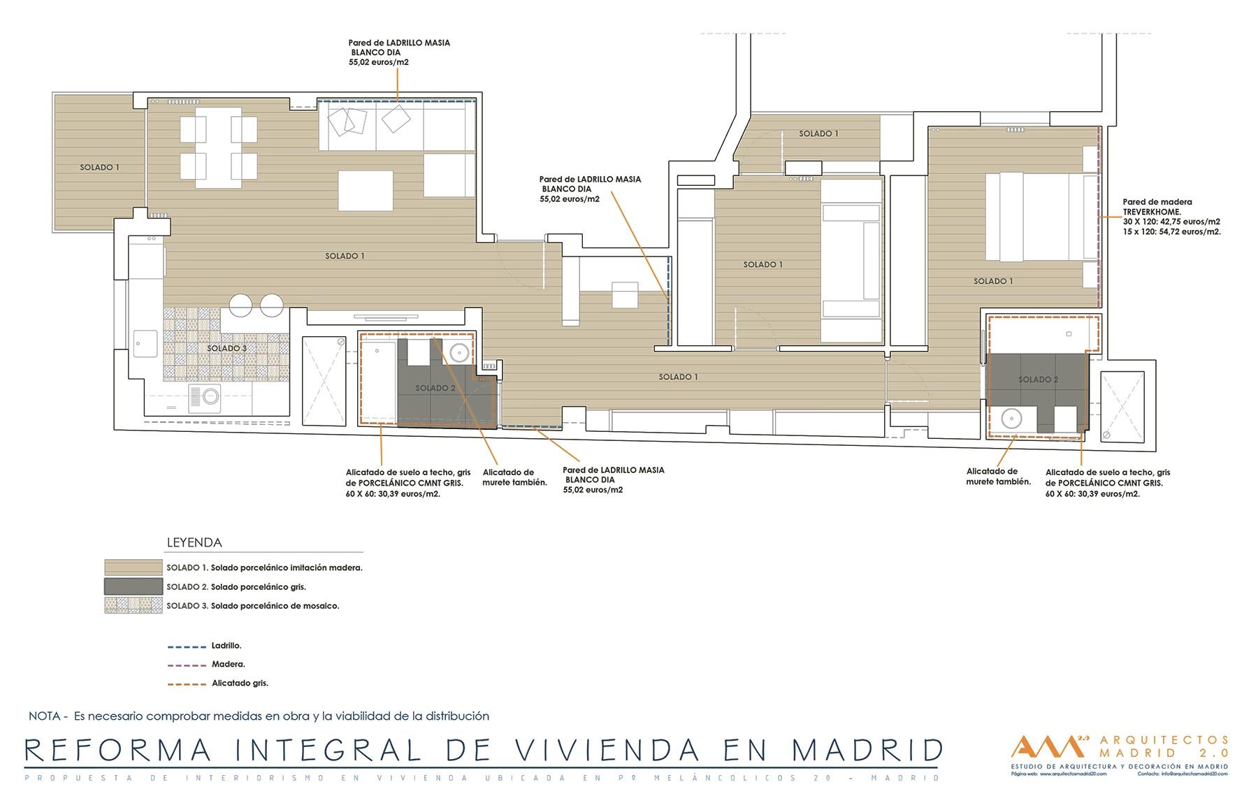 Reforma integral de vivienda en madrid r o por el estudio arquitectos madrid 2 0 - Reforma vivienda madrid ...