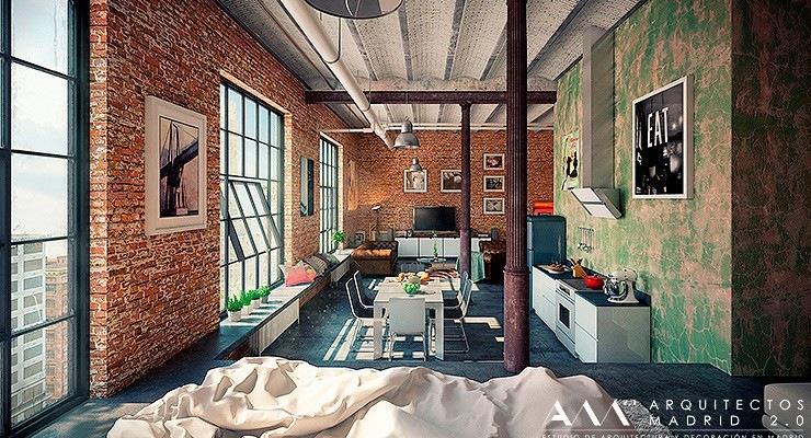 proyecto reforma de loft en madrid