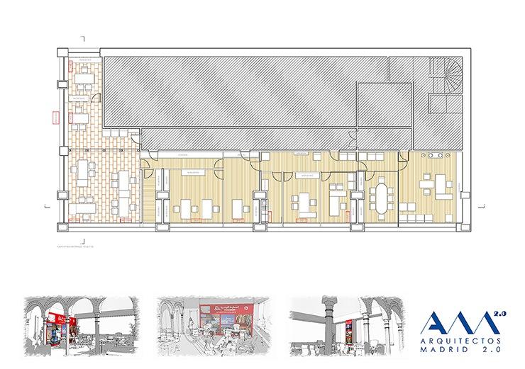 Reforma de las oficinas centrales de tunisair en madrid for Proyecto oficina