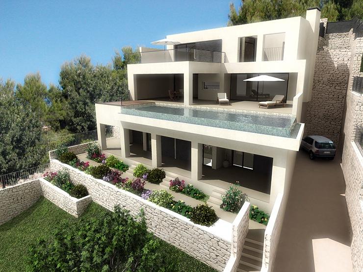 Proyectos de viviendas unifamiliares casas de dise o madrid - Proyectos casas unifamiliares ...