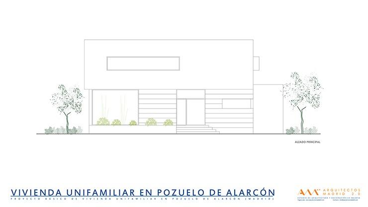 proyecto y construccion de vivienda en pozuelo de alarcon - alzado