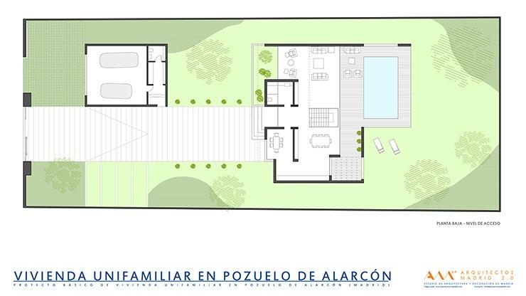 Construcci n de vivienda unifamiliar en pozuelo de alarc n for Viviendas modernas de una planta