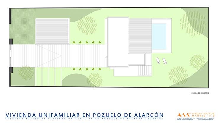 proyecto y construccion de vivienda en pozuelo de alarcon - planta cubiertas