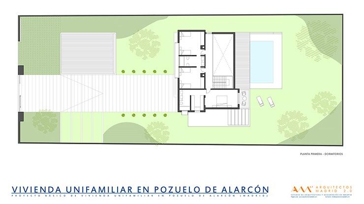 proyecto y construccion de vivienda en pozuelo de alarcon - planta baja