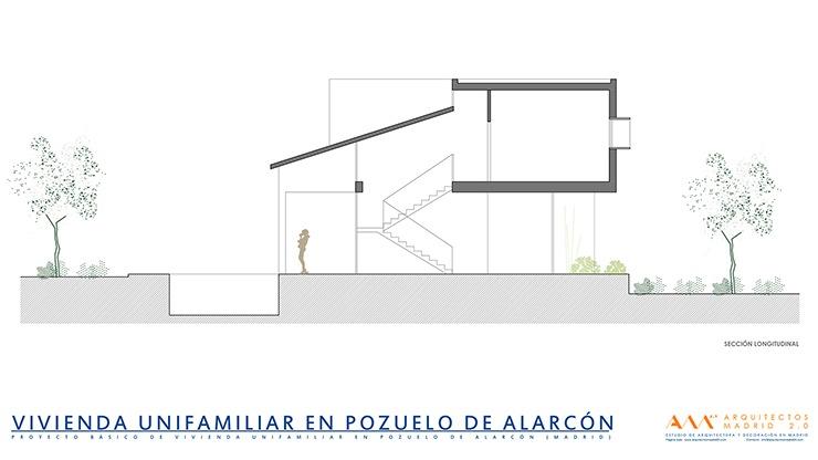 proyecto y construccion de vivienda en pozuelo de alarcon - seccion long